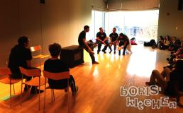 Boris' Kitchen performs for middle-schoolers with Waltham Group